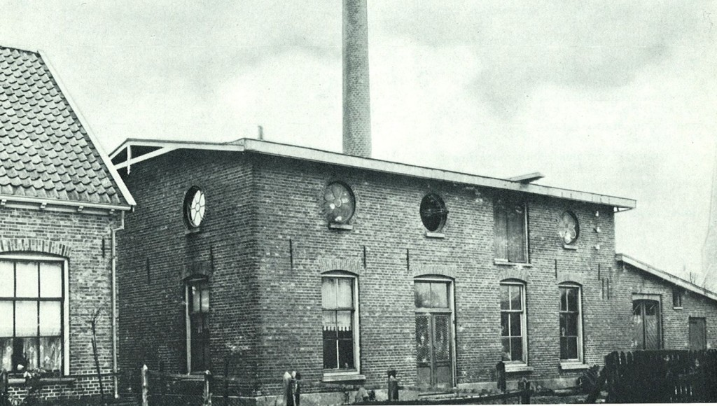 De elektrische centrale in Borne 1900