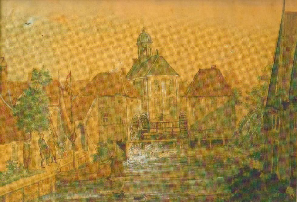 Haven Almelo aquarel 1800 anoniem