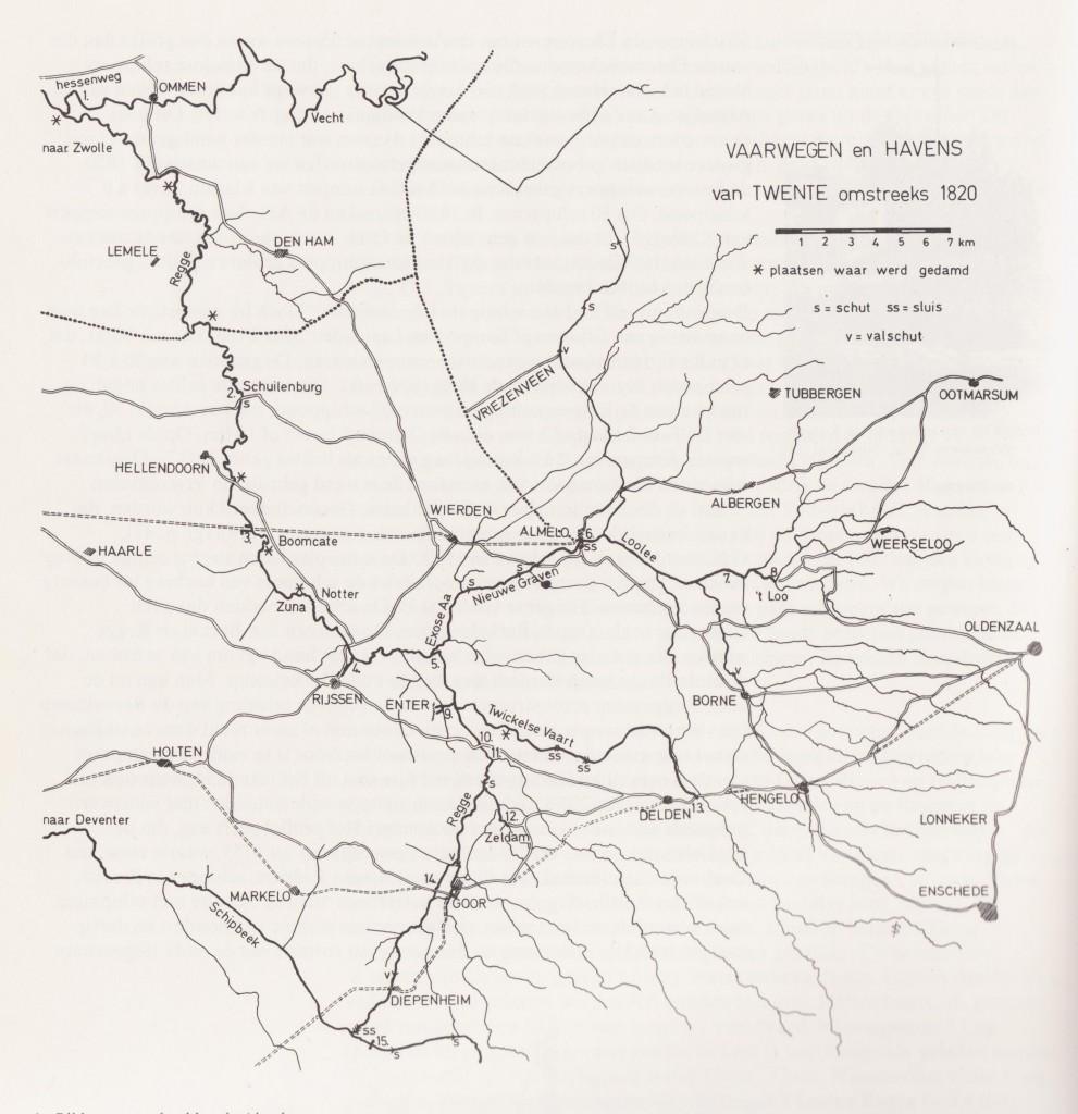 Waterwegen Twente 1820