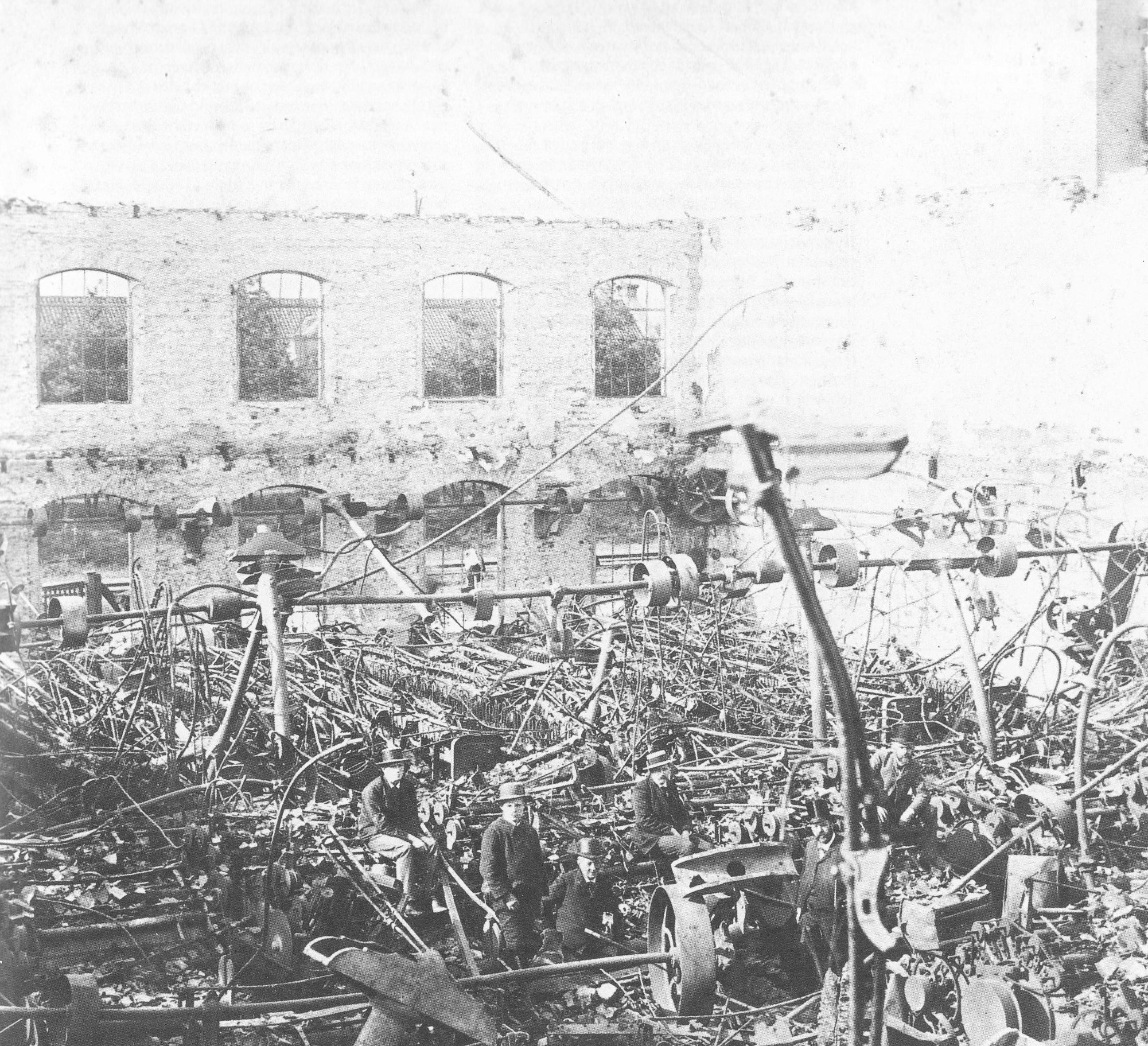 afgebrande spinnerij 19e eeuw