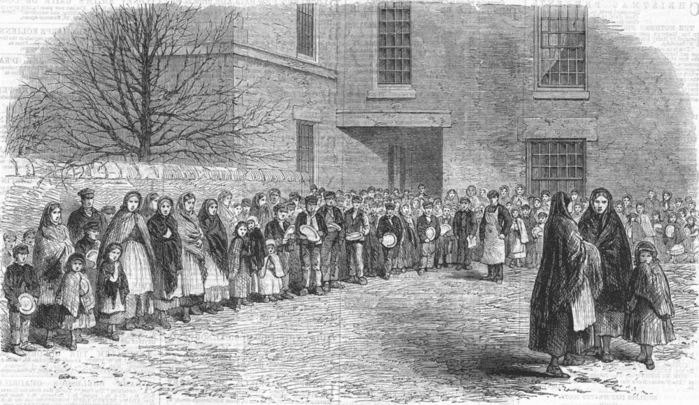 cotton-famine-workers-awaiting-food-antique-print-1862-250031-p