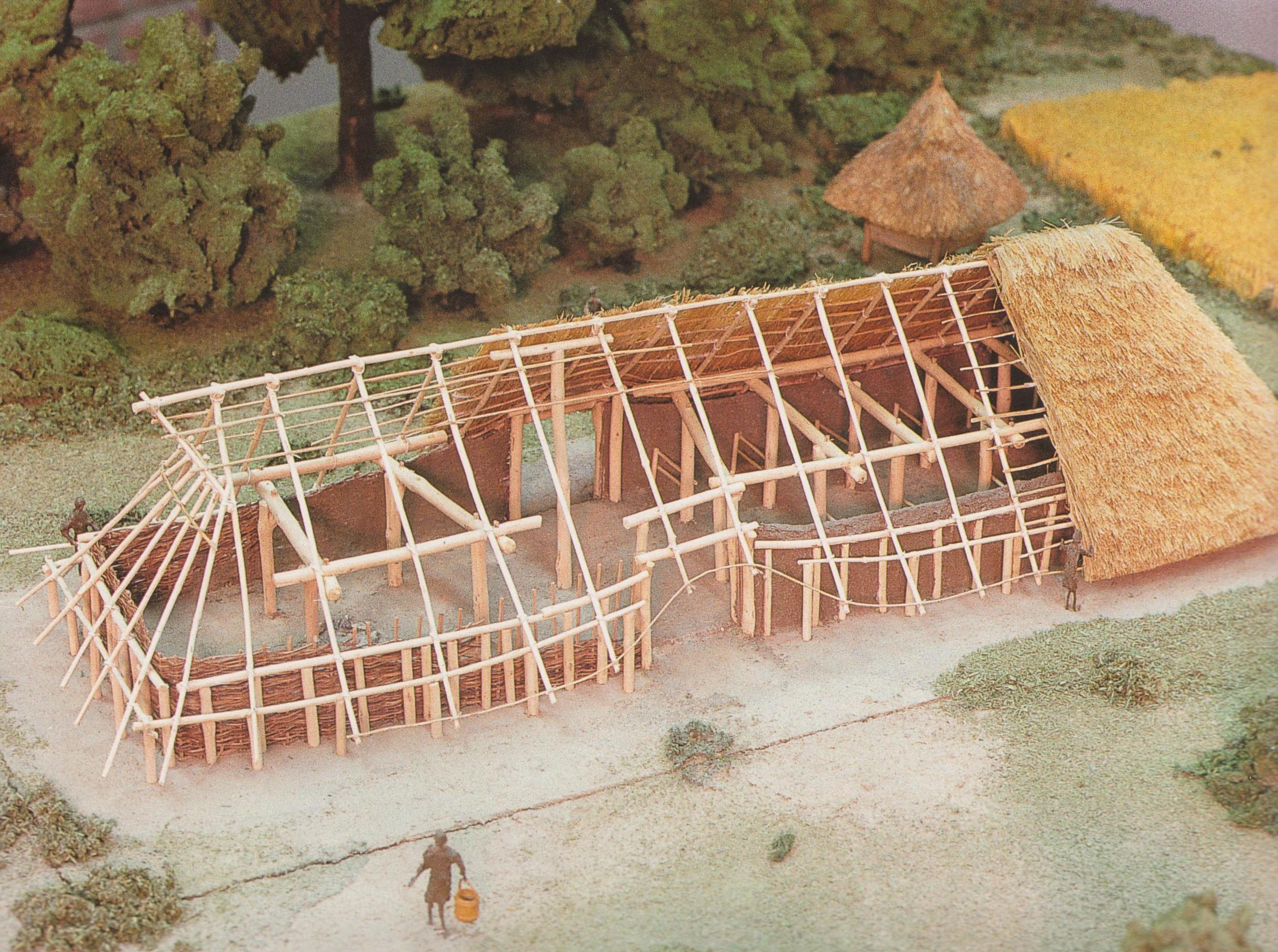 maquette boerderij IJzertijd2