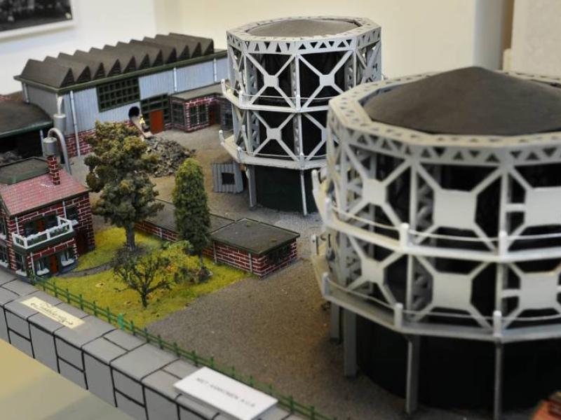 maquette gasfabriek Museum Hengelo Tubantia 27 febr 2015 Charel van Tendeloo